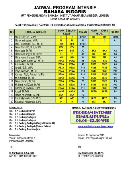 New Jadwal Intensif 2015-2016-INGGRIS